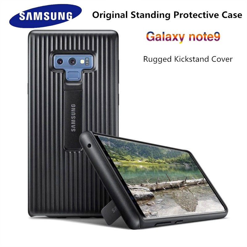 sneakers for cheap b4889 00792 US $4.04 10% OFF|100% Original new Samsung Galaxy note 9 mobile phone bag  Ultimate Full Protective Case Tough Stand Armor Cover with logo 6.4inch-in  ...