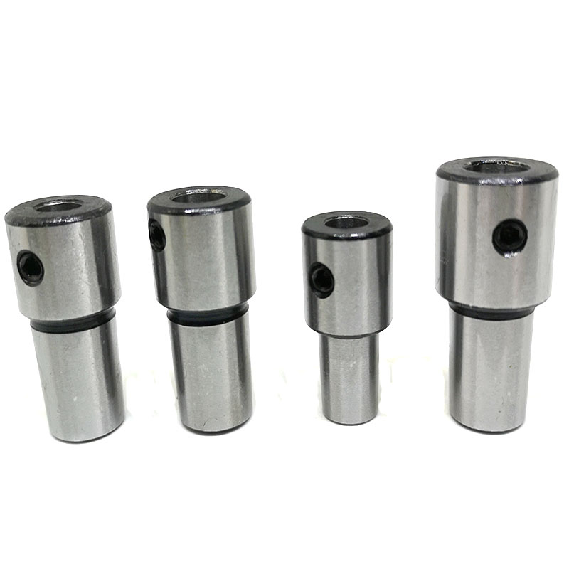 1pcs collet chuck connecter B18 B16 B12 B10 adapter arbor with inner hole 5 6 <font><b>8</b></font> 10 12 14 16 19 <font><b>mm</b></font> for CNC machine drilling lathe image