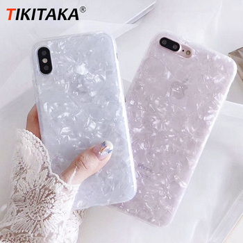 Luxury Glitter Phone Case For iPhone 7 8 Plus Dream Shell Pattern Cases For iPhone XR XS Max 7 6 6S Plus Soft TPU Silicone Cover