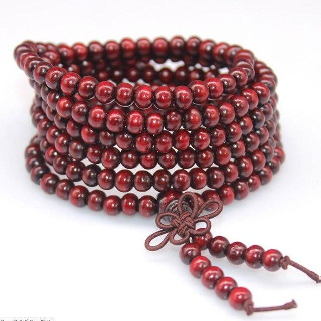 KYSZDL חום אופציונאלי מכירה 108 אבוני חרוזים וצמידי תכשיטים מעץ סיסם חרוזים תפילה דתי מתנה לזוגות