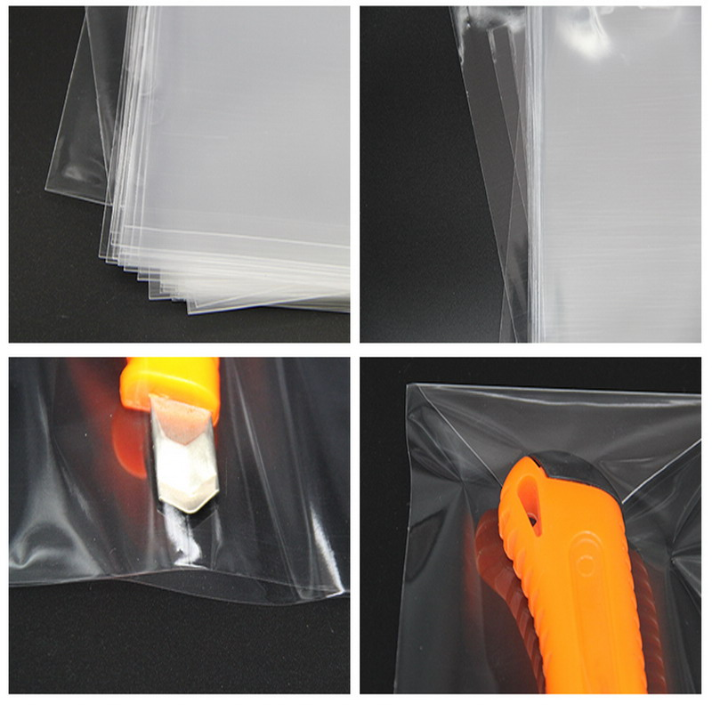 Clear Cellophane Bags 10x23cm Transparent Opp cosmetic Clear plastic reservoir bag gift bags candy tools flat pocket