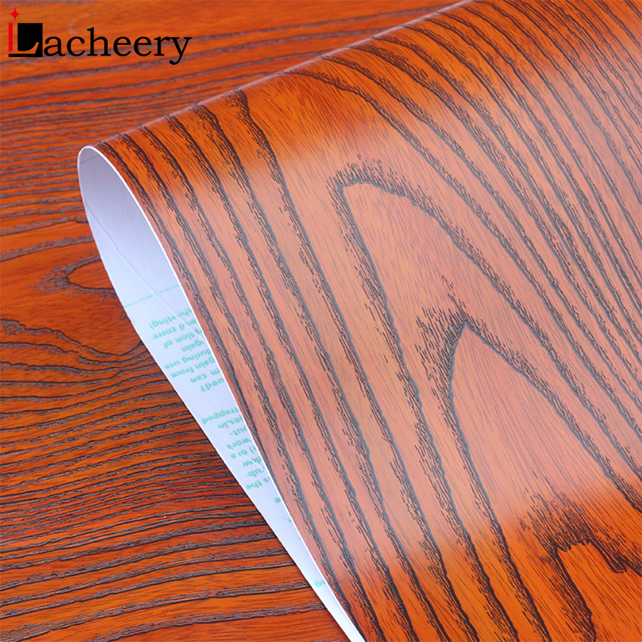 3M/5M/10M Modern Living Room Decor Wallpaper Floor Wall Stickers PVC Self Adhesive Waterproof Furniture Wood Grain Contact Paper