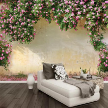 цены Customized 3d mural creative flower sofa bedroom TV background wall decoration painting wallpaper mural photo wallpaper