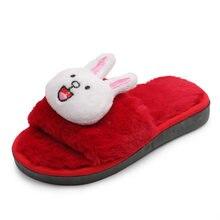Camera da letto A Casa Del Fumetto Scarpe Per Bambini Coniglio e Orso  Pantofole di Cotone Morbido Inverno 2018 Carino Ragazze Pe. 7a285c92cf2