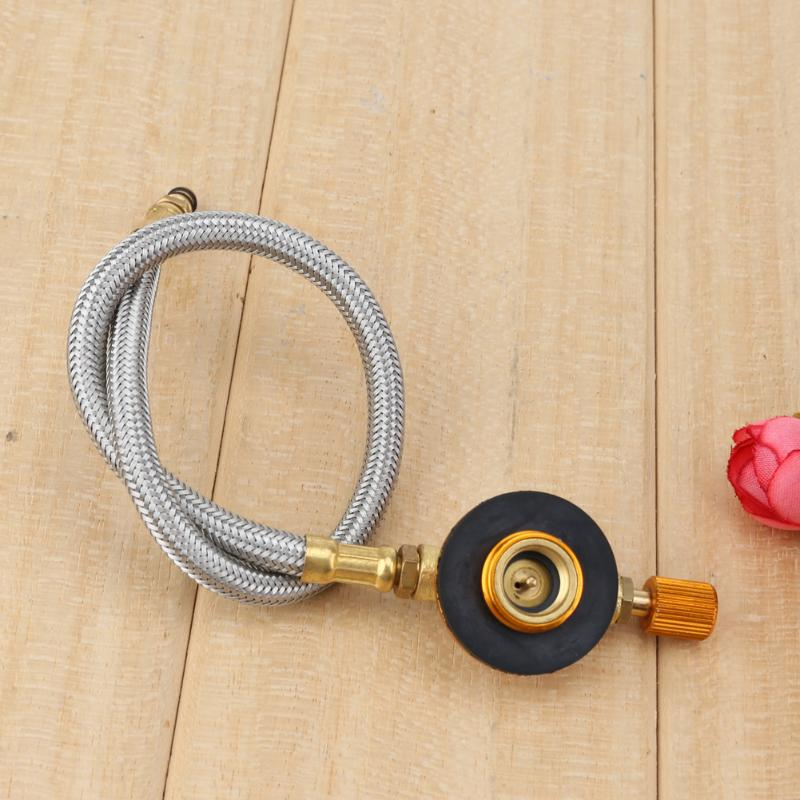 Braided Hose Outdoor Gas Stove Furnace Connector Gas Tank Adapter Valve For Outdoor Camping Palnik Gazowy Cooking Fuel Stove
