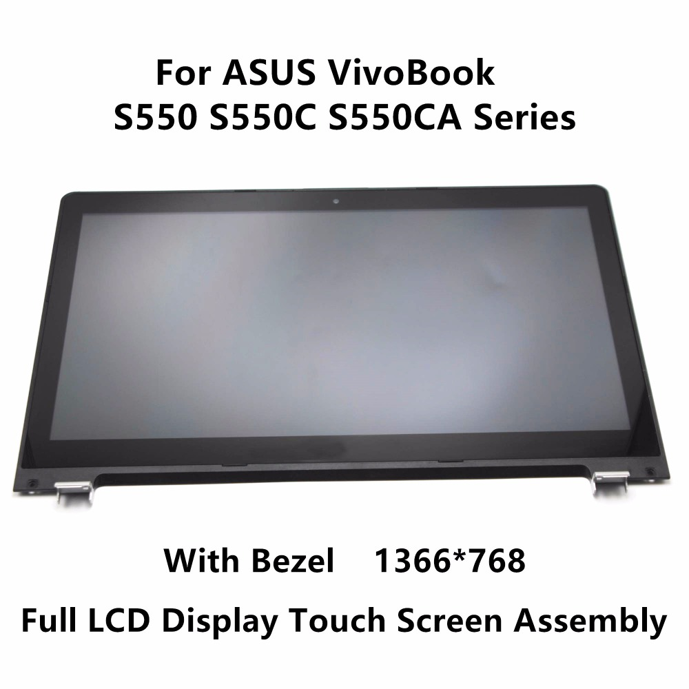 15.6'' For ASUS VivoBook S550 S550C S550CA Series LTN156AT20 Touch Panel Glass Digitizer + LCD Screen Display Assembly + Frame