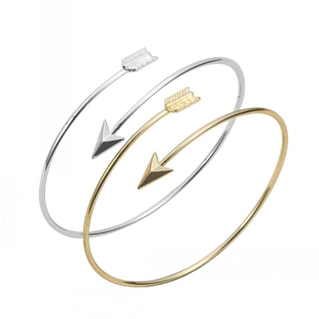 1 pcs Nouveau Design Vente Chaude De Cuivre Bracelet En Or Ruban et Or Rose Réglable Flèche Bracelet Bracelet Pour Les Femmes