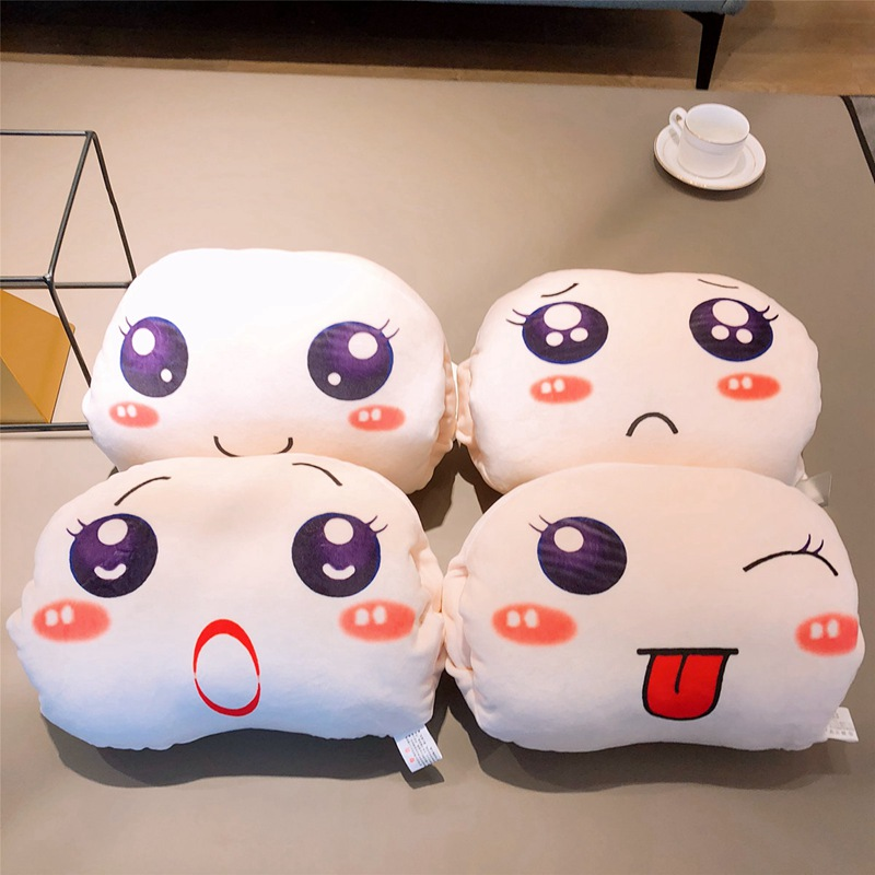 Toys & Hobbies 35*25cm Kawaii Steamed Bread Plush Handwarm Soft Four Kind Of Expression Bread Pillow Baby Nap Cushion Toy Dolls Kids Best Gifts