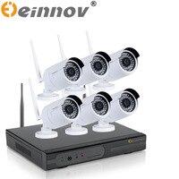 EINNOV 5CH 6CH Wireless NVR Kit Plug And Play P2P 720P HD Outdoor Indoor IR Night