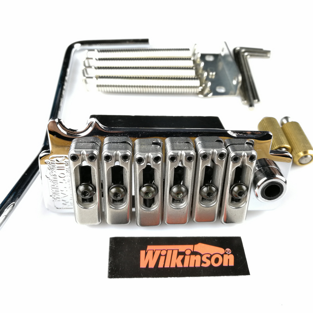 Image 3 - New Wilkinson WVS50IIK Electric guitar tremolo bridge Tremolo System silver Black and Gold-in Guitar Parts & Accessories from Sports & Entertainment