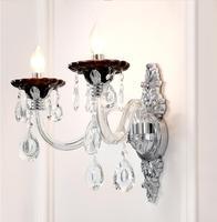 Современный прозрачного хрусталя, украшенные разноцветными кристаллами дизайн настенный светильник K9 с украшением в виде кристаллов наст