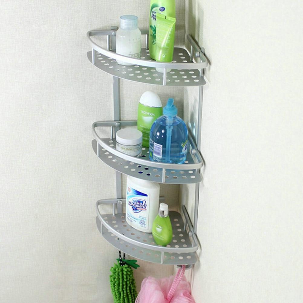 Wall Mounted Bathroom Towel Rack Three Layer Washing Shower Basket ...