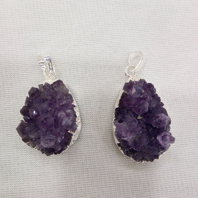 Buy raw amethyst pendant and get free shipping on aliexpress aloadofball Image collections