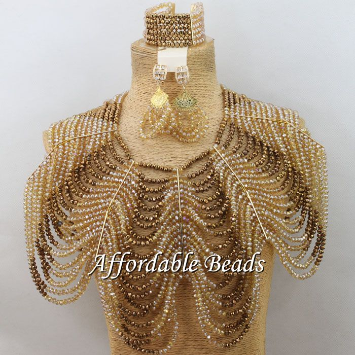 Multi-Layers Crystal Bridal Set Marvelous Nigerian Jewelry Set Unique Design Free Shipping ABW134Multi-Layers Crystal Bridal Set Marvelous Nigerian Jewelry Set Unique Design Free Shipping ABW134