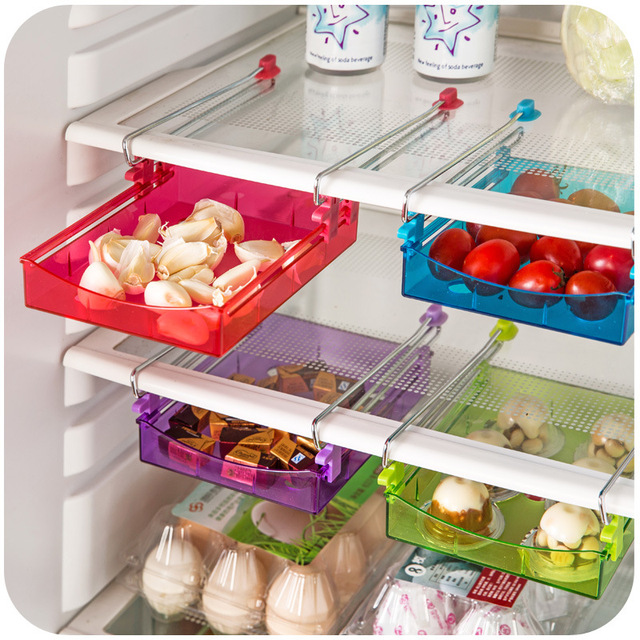 Multipurpose Fridge Storage Sliding Drawer Refrigerator Bins E Saver Organizer Shelf Freezer Basket Container Layer Dv1373