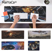 MaiYaCa High Quality Star Wars Space Ship Large Mouse pad PC Computer mat Rubber Gaming mousepad