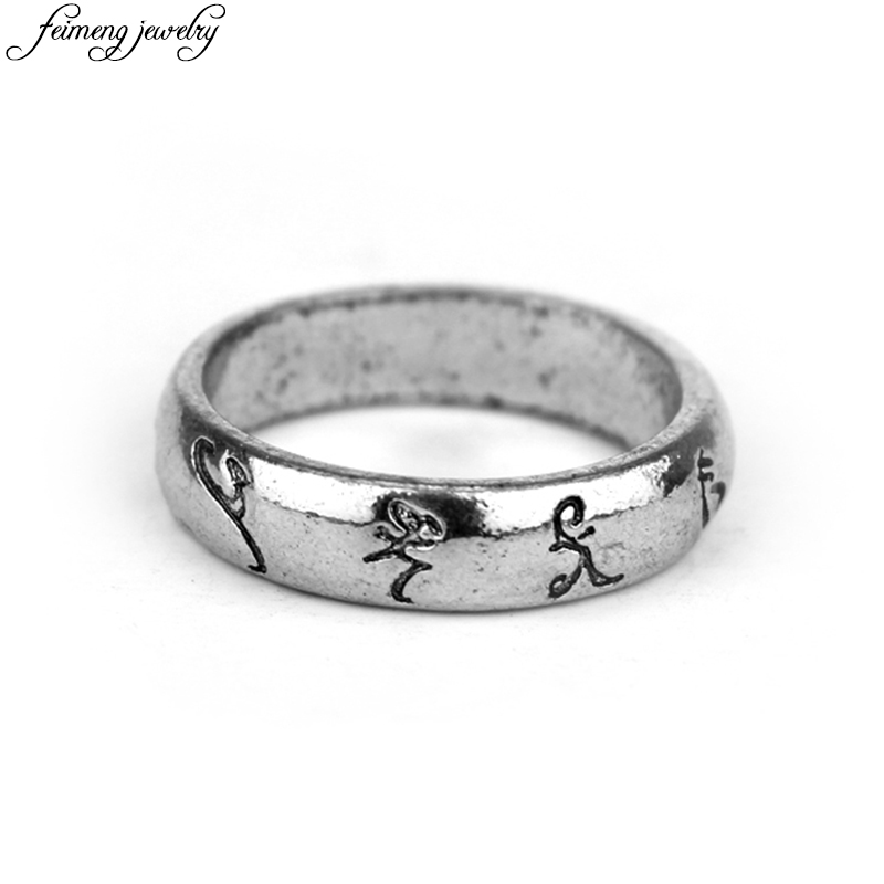 The Mortal Instruments City Of Bones Jace Rune Rings Men Personality Symbol Vintage Cocktail Ring Fine Accessories