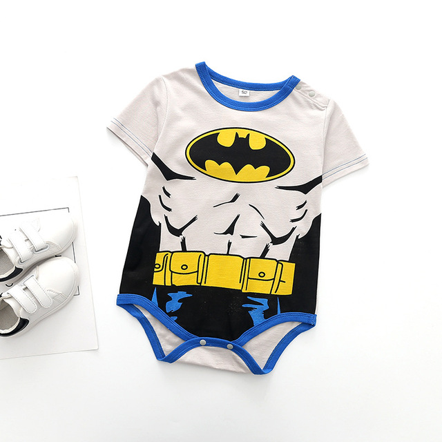 Superman Summer Baby Rompers Newborn Baby Boy Girl Romper Short sleeve Jumpsuit Clothes Baby Clothes Cotton Outfits 0-18M 4