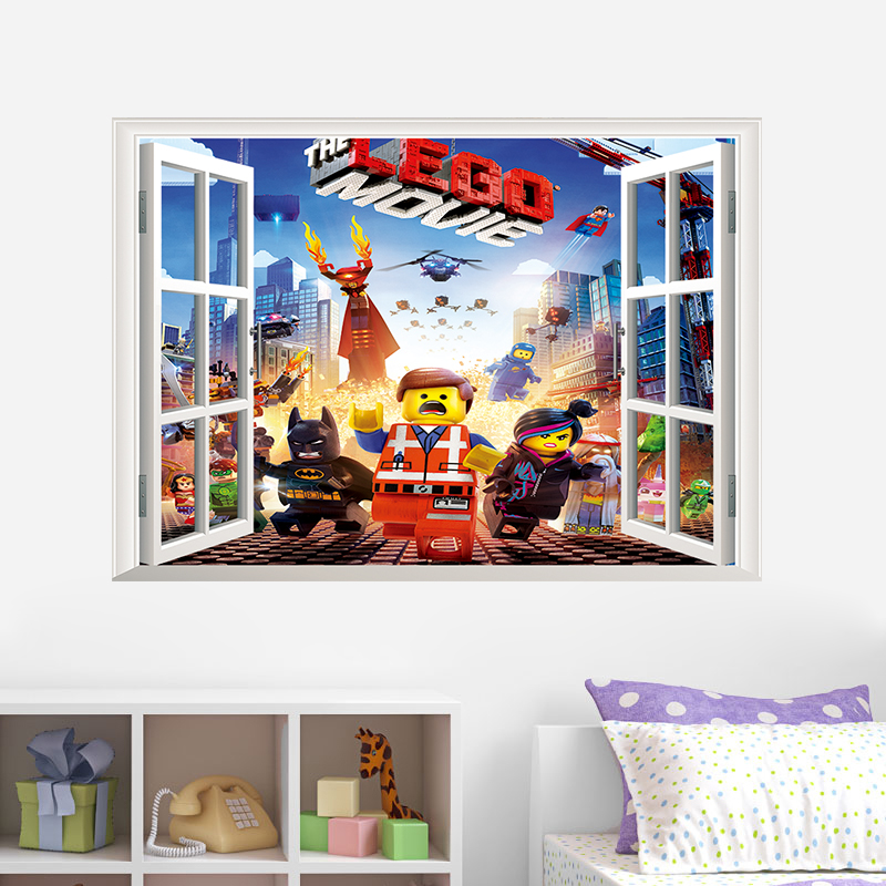 Nice Famous Cartoon Movie Lego Kids Room Home Decals Wall Sticker For Nursery  Removable Decor Stickers Child Robot Toy Gifts In Wall Stickers From Home U0026  Garden ...