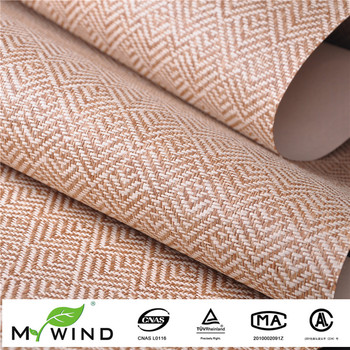 Latest Style Paper Weave Wallpaper Modern Geometric Wall Paper Luxury Chinese Art Wallpaper For Home Decoration