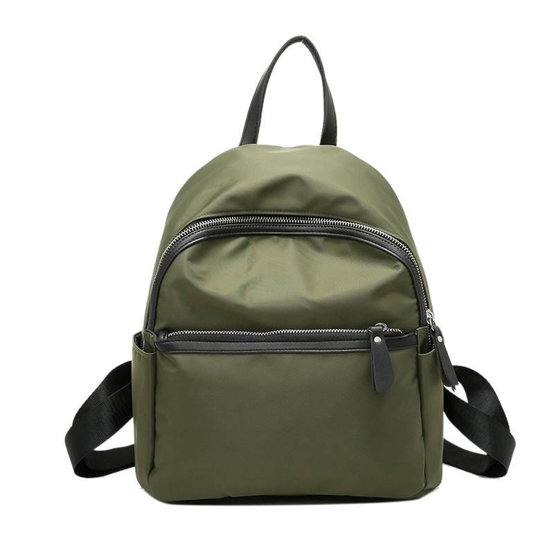 CHALLEN Brand Small Waterproof Nylon Women Backpack Fashion Green Shoulder  Back Bag Preppy Style Backpacks for 2bc31d4cc4e17