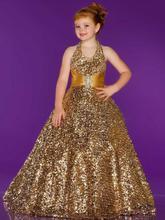 free shipping gold flower girl dresses for weddings 2013 first communion dress little christmas pageant girls