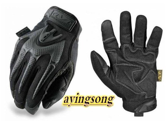 Mechanix Wear M-PACT gloves Mechanics Work Safety Full Finger Tool impact Glove Black