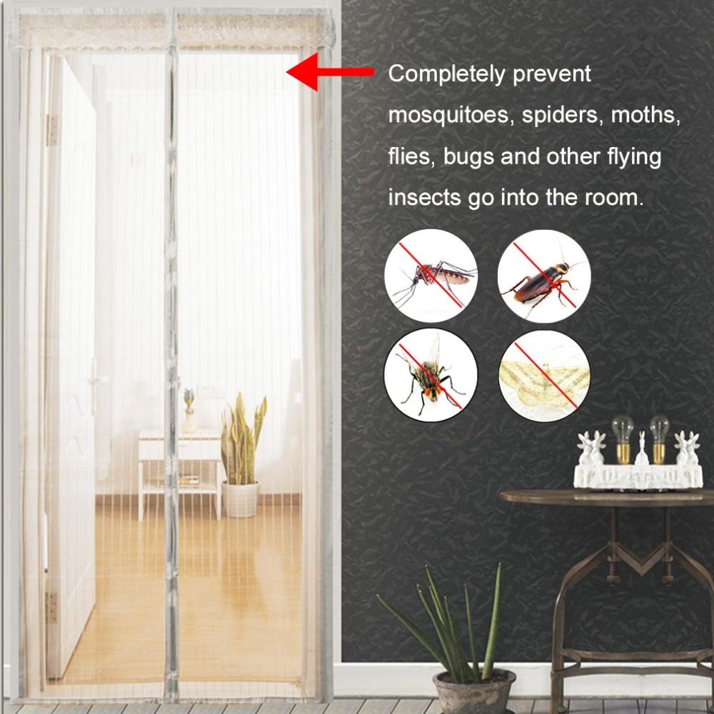 Automātiska aizvēršanas durvju ekrāna aizsardzība pret moskītu aizkari Magnētiskie tilla aizkari Virtuves aizkari Dažādi izmēri Durvju aizkars Automati