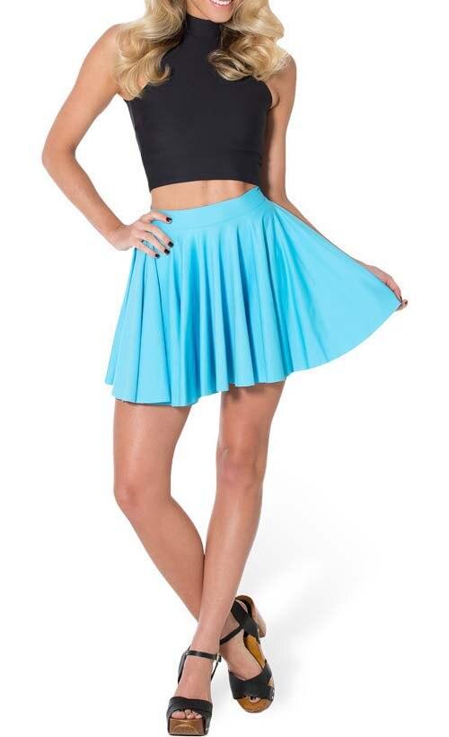 cf72042436 Women Skirt Summer 2014 Casual Matte Blue Pleated Skirt Tennis Skirt Mini  High Waist Short Saia Plus Size-in Skirts from Women's Clothing on  Aliexpress.com ...