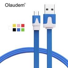 Цветной USB 2.0 кабель зарядки и синхронизации для Android телефонов Samsung Huawei HTC Lenovo LG Плоский кабель для передачи данных USBC-118