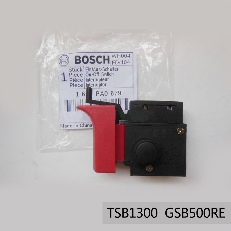 Free shipping!  Original Electric hammer Drill Speed Control Switch for bosch TSB1300/GSB500RE,Power Tool Accessories набор bosch дрель аккумуляторная gsb 18 v ec 0 601 9e9 100 адаптер gaa 18v 24