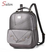цены на New Anti-theft Rucksack Business Bags Waterproof Unisex Backpacks Women Pu Leather Fashion Female Backpack Teenager Travel Bags в интернет-магазинах