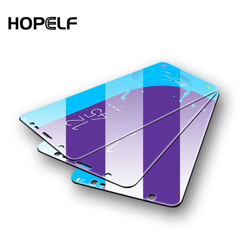 HOPELF 3Pcs Protective Glass for Samsung Galaxy A7 A9 A6 A8 J4 Plus Screen Protector
