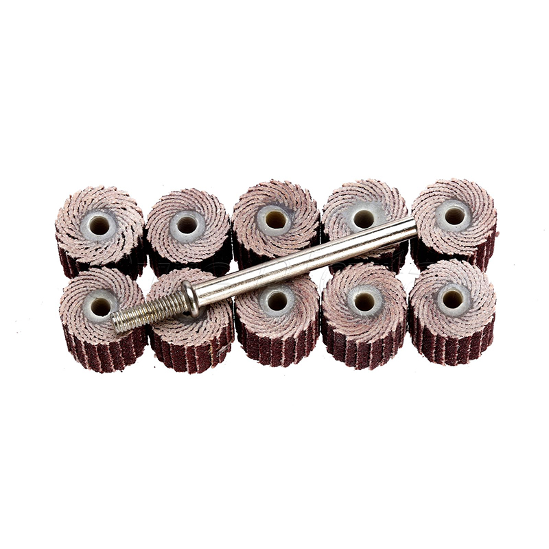 10pcs 240 Grit Sandpaper Sanding Flap Polishing Wheels Sanding Disc Auto Jewelry Metal Polishing Wheel For Rotary Tool