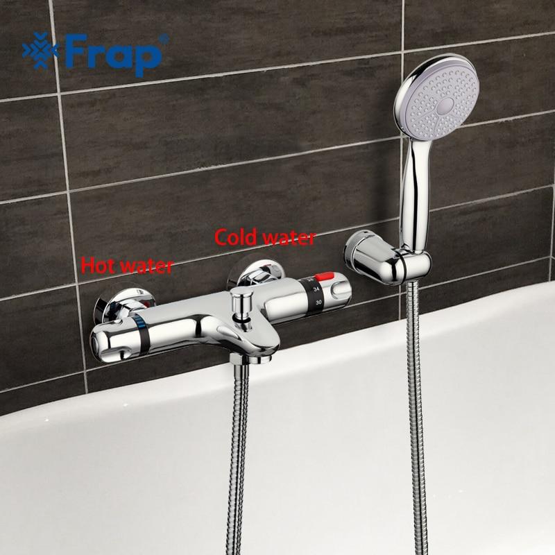 Frap 1 компл. Термостатический смеситель для душа смеситель для ванны холодной и горячей воды смесителя короткий нос двойная ручка F3051