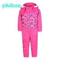 Phibee enfants vêtements Ski ensemble filles garçons vêtements chauds enfants vêtements imperméable coupe-vent respirant survêtement