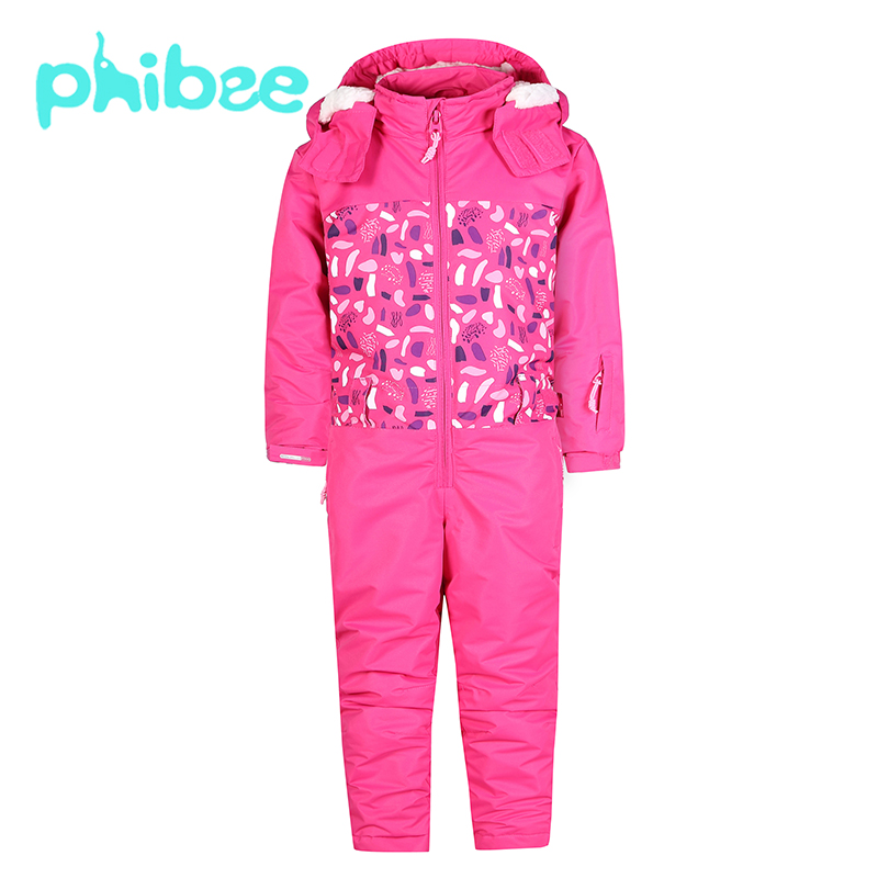 цена Phibee Kids Clothes Ski Set Girls Boys Clothes Warm Children Clothing Waterproof Windproof Breathable Tracksuit