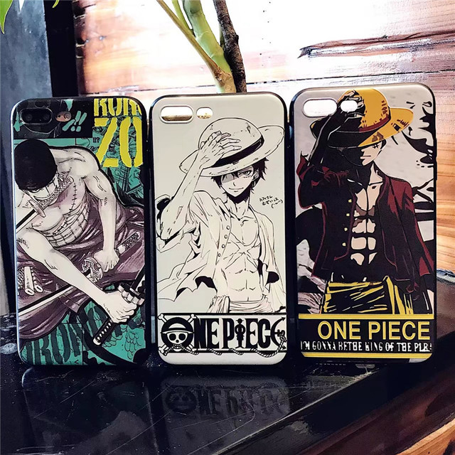 One Piece Luffy Soft 3D Cool Case Cover for iPhone 8 6 6s 7 Plus 6plus 7plus