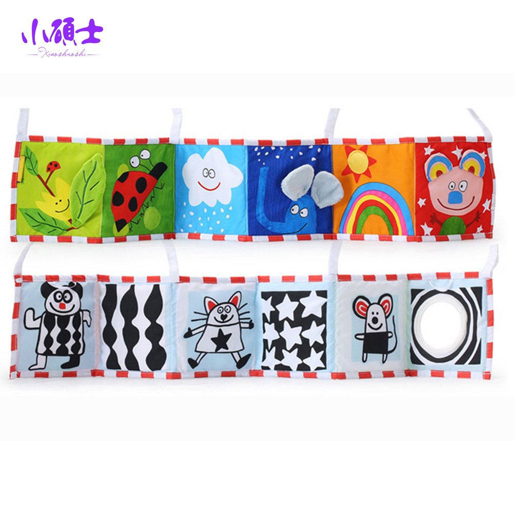 Cartoon Soft Cloth Books Bed Curtain For Children Kids Early Learning Educational Intelligence Development Hanging Bady Toys Gi