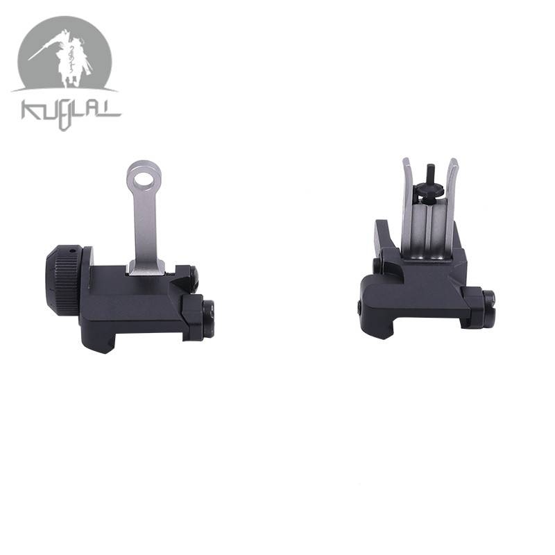 Upgraded Version KAC 300 Style Rear and Front Iron Sight Set CNC Process