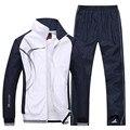 Männer Sportswear Neue Frühling Herbst Trainingsanzug 2 Stück Sets Sport Anzug Jacke + Hose Sweatsuit Männlichen Mode Druck Kleidung Größe l-5XL