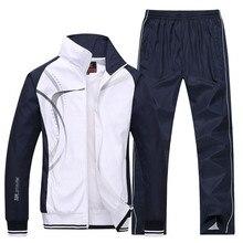 Ropa deportiva para hombre nueva primavera otoño 2 piezas conjuntos chaqueta de traje deportivo + pantalón chándal ropa de impresión masculina talla de chándal l 5XL