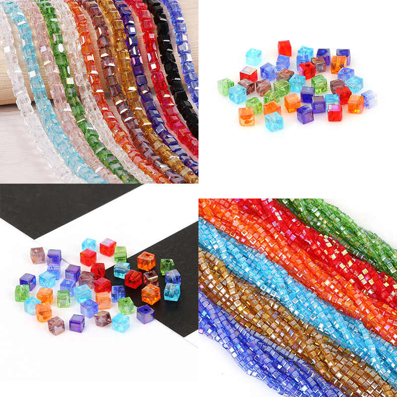 Fashion 20-200pcs/lot Colorful Glass Beads Charms Loose Round Beads Jewelry Beads for DIY Jewelry Making Necklace Bracelet