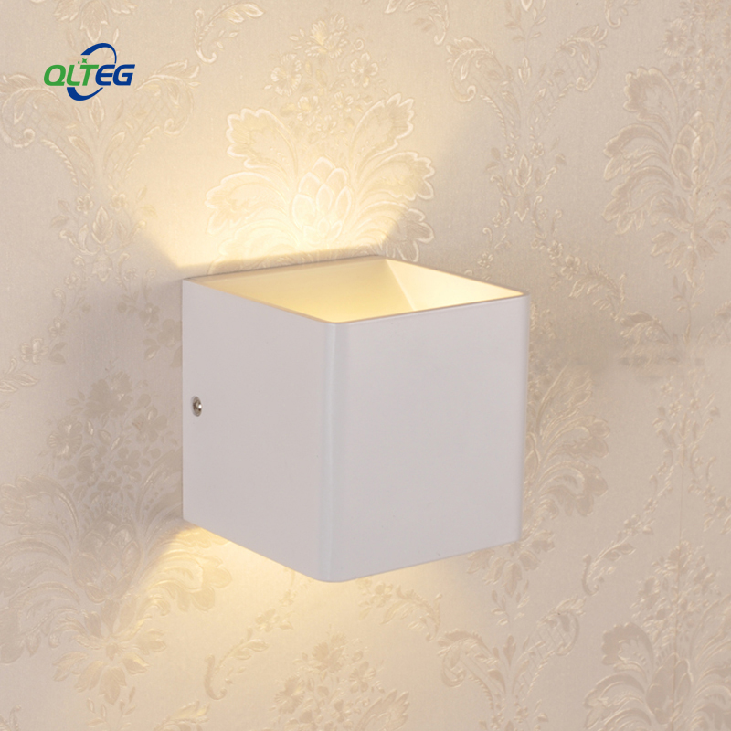 Led Lamps Qlteg Led Wall Lamps 5w 7w Ac85-265v Modern Simple Bedroom Lights Indoor Dining-room Corridor Lighting Aluminum Material 100% High Quality Materials