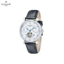 Наручные часы Earnshaw ES-8046-02 мужские механические с автоподзаводом на кожаном ремешке