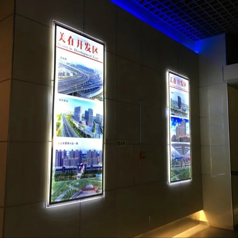 ultra thin acrylic poster frames wall mounted led illuminated signscrystal frame display light boxes