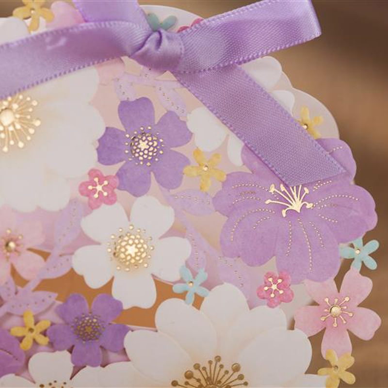 (50 Pieces/lot) Party Gifts Light Purple Flowers Candy Box Girlu0027s Baby  Shower Favors Chocolate Gift Boxes For Decoration CB7025 In Gift Bags U0026  Wrapping ...