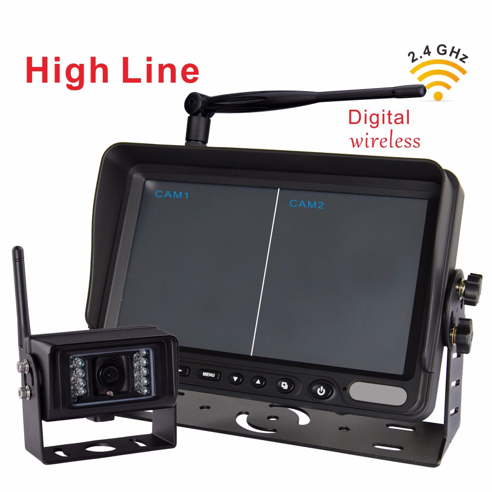 "7"" Wireless 2.4G Rear View Monitor with Wireless Transmission Backup Camera For Farm Tractors Digital Agriculture (1pcs camera)"