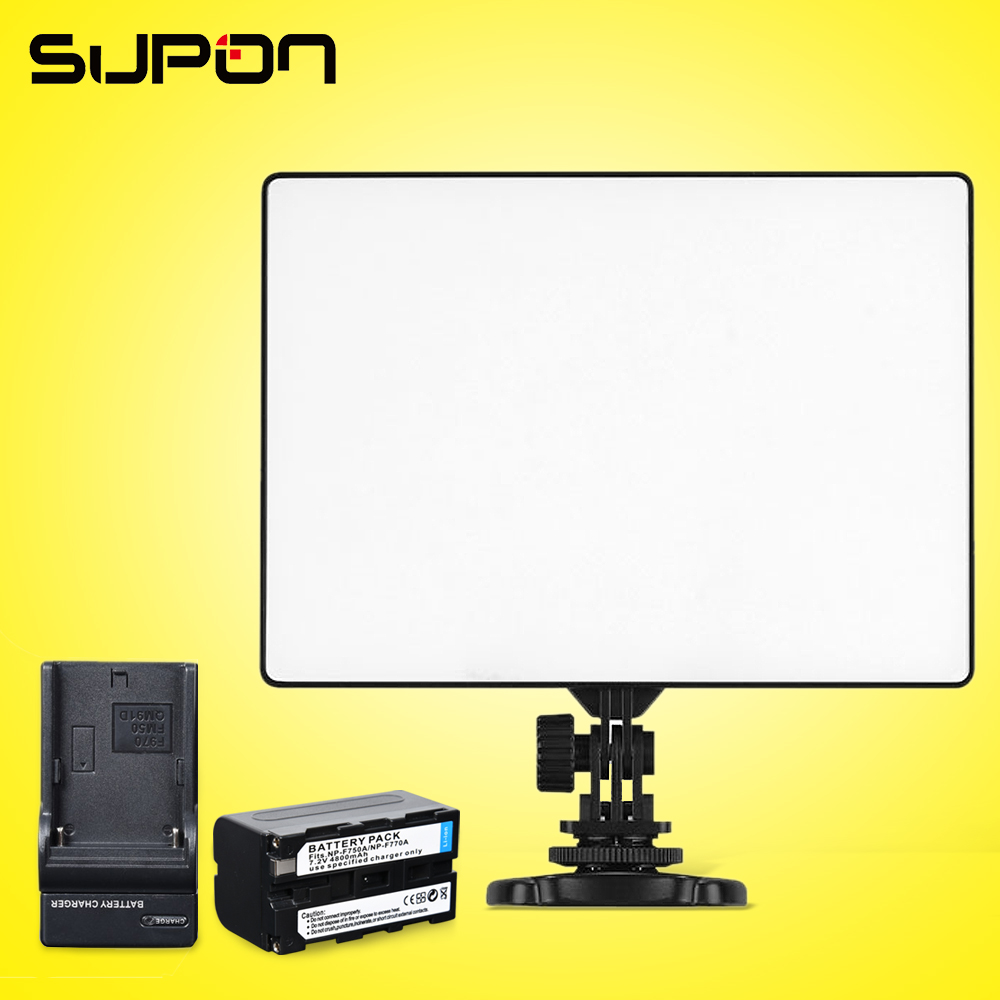 ФОТО YONGNUO YN300 Air 3200-5500K Ultra Thin On Camera Led Video Light Pad Panel for  DSLR & Camcorder+1* NP-F750 Battery