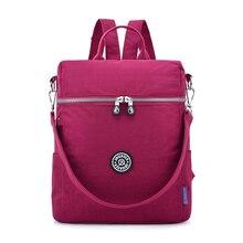 Waterproof Nylon Female School Backpack for Teenage Girls Laptop Women Casual Bagpack Travel Shool Bag Mochila W729